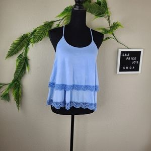 Altar'd State Tiered Laced Trim Tank Top